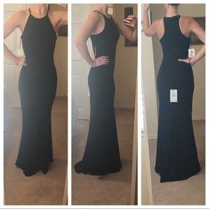 Calvin Klein Dresses Crepe Halter Gown Black Size 6 Poshmark